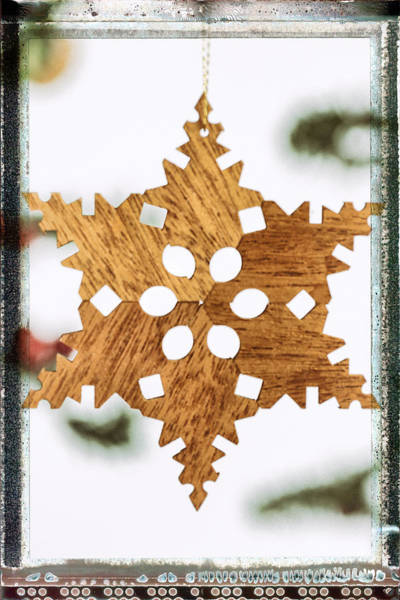 Photograph - Snowflake Holiday Image Art by Jo Ann Tomaselli