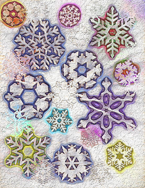 Christmas Season Wall Art - Digital Art - Snowflakes 2 by Steve Ohlsen