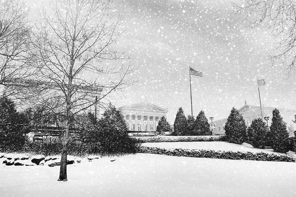 Photograph - Snowing From Afar by Alice Gipson