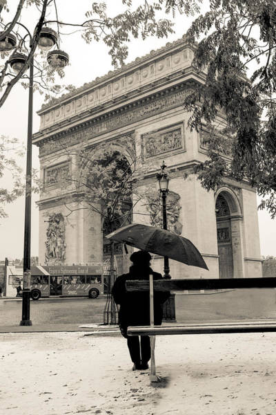 Photograph - Snowing In Paris by Matthew Pace