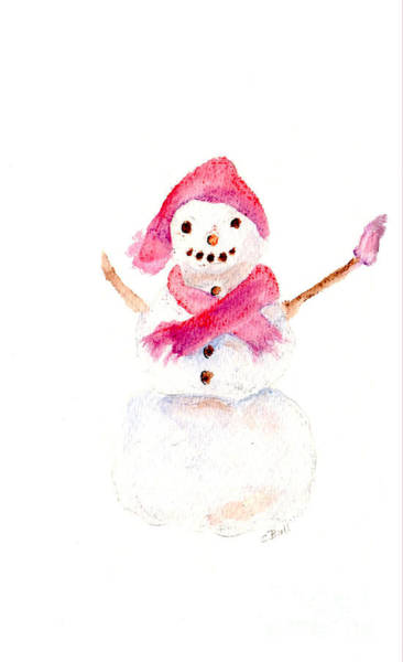 Painting - Snowman by Claire Bull