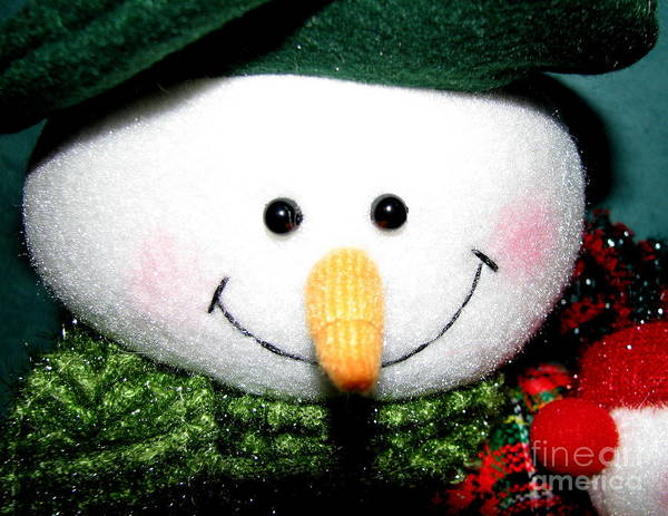 Photograph - Snowman Decoration Closeup by Rose Santuci-Sofranko