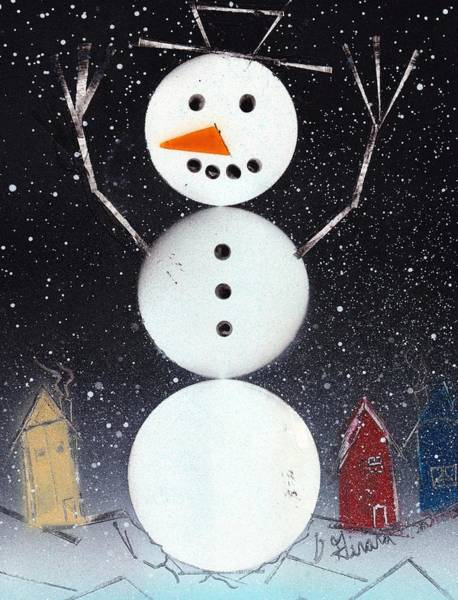 Painting - Snowman by Jason Girard