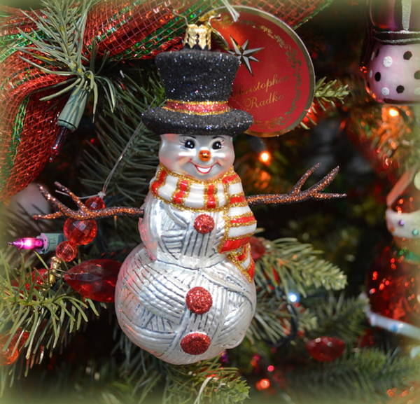 Wall Art - Photograph - Snowman Ornament by Linda Covino