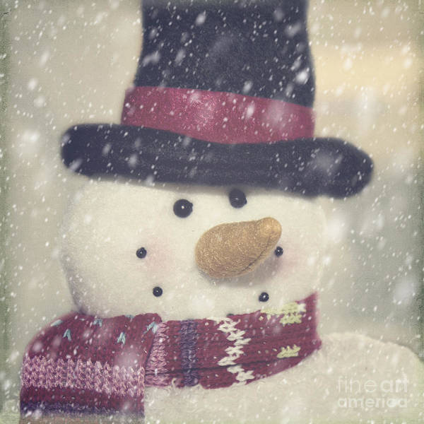 Photograph - Snowman by Pam  Holdsworth