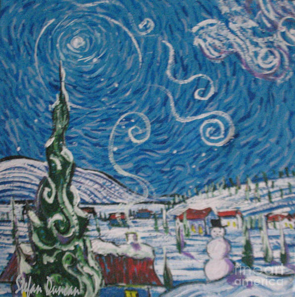 Painting - Snowman Village by Stefan Duncan