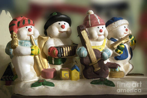 Ear Muffs Photograph - Snowmen Band by Thomas Woolworth