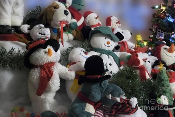 Ear Muffs Photograph - Snowmen Buddies 02 by Thomas Woolworth