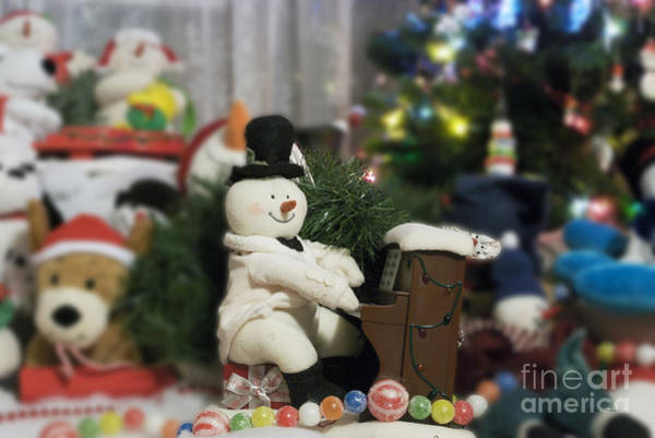 Ear Muffs Photograph - Snowmen Playing Piano 02 by Thomas Woolworth