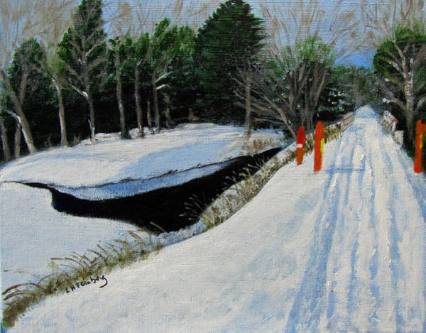 Painting - Snowmobile Trail At Clark's Pond by Linda Feinberg