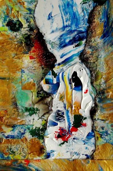 Atc Painting - Snowoman by Michael DESFORM
