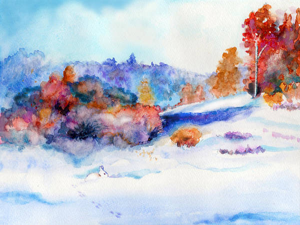 Painting - Snowshoe Day by C Sitton
