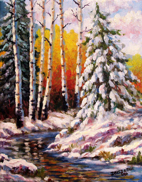 Wall Art - Painting - Snowy Banks by David G Paul