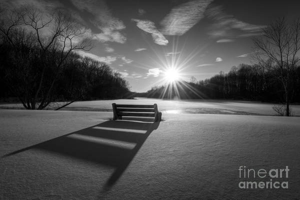 Michael Photograph - Snowy Bench Bw by Michael Ver Sprill