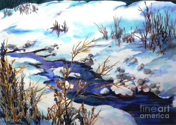 Painting - Snowy Blue by Betty M M   Wong