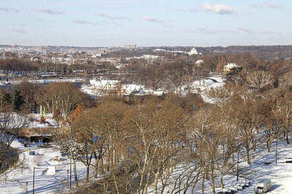 Photograph - Snowy Boathouserow View by Alice Gipson