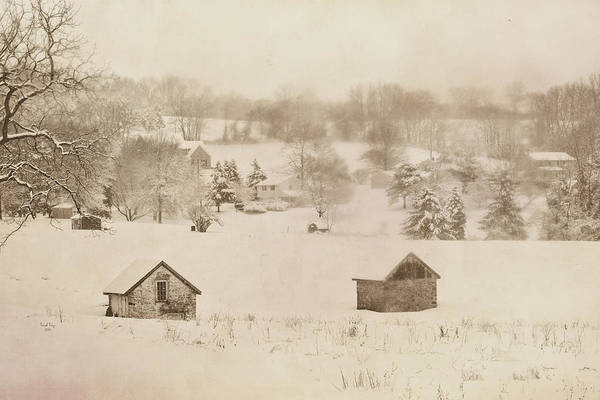 Mixed Media - Snowy Boyertown by Trish Tritz