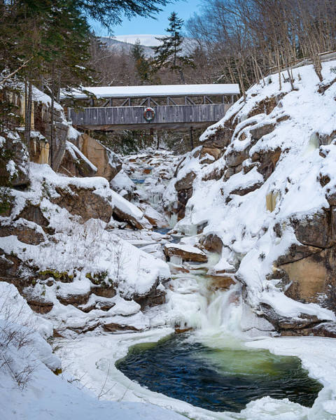 Pemigewasset River Wall Art - Photograph - Snowy Chasm by Michael Blanchette