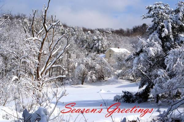 Photograph - Snowy Christmas Morning by Gordon Elwell