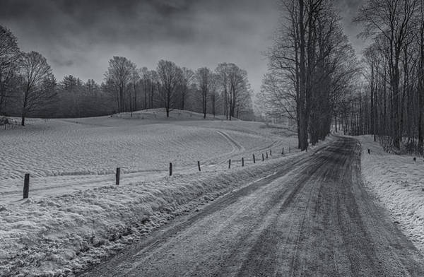 Photograph - Snowy Country Road by Tom Singleton