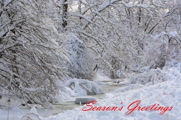 Photograph - Snowy Creek In Pennsylvania by Gordon Elwell