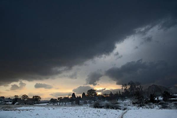 Digital Art - Snowy Dawn by David Davies