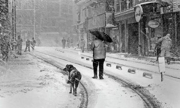 Istanbul Photograph - Snowy Day A?n A?stanbul by Devrim ?nl?