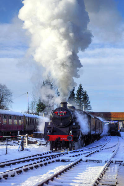 Photograph - Snowy Day Departure by David Birchall