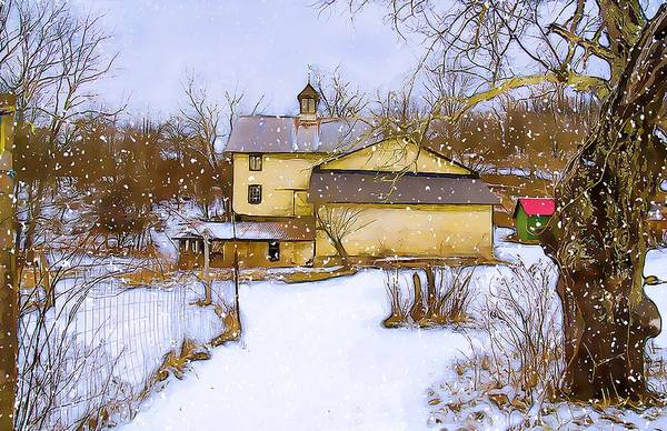 Wall Art - Photograph - Snowy Day On The Farm by Dave Sandt