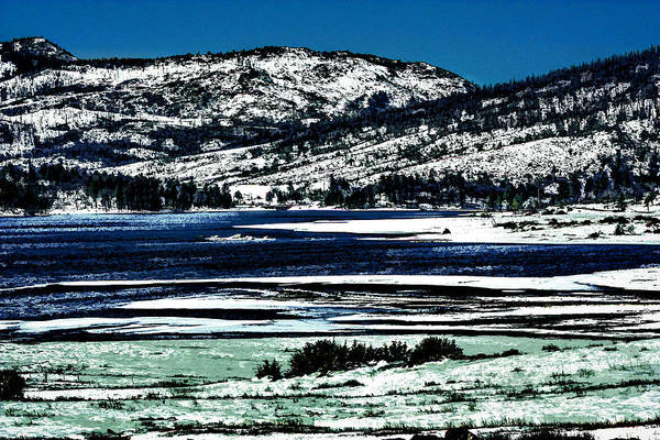 Digital Art - Snowy Hillsides by Photographic Art by Russel Ray Photos