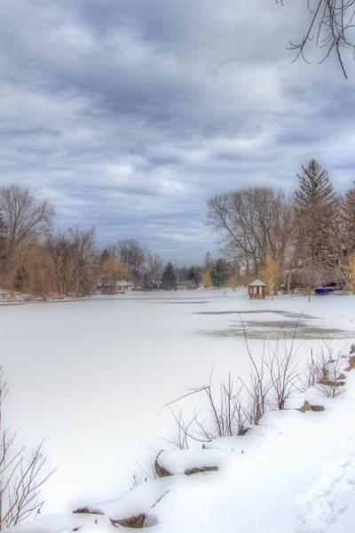 Photograph - Snowy Lake by Jorge Perez - BlueBeardImagery