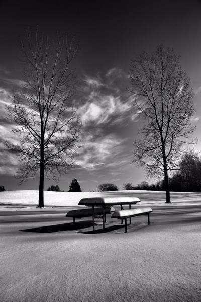 Photograph - Snowy Morning In Black And White by Dan Sproul