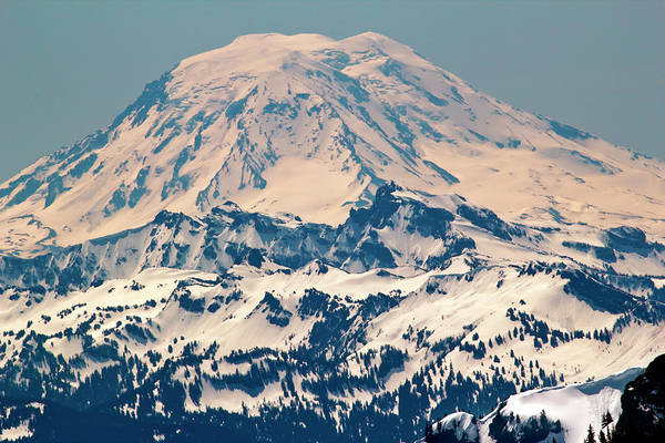 Mt. Adams Photograph - Snowy Mount Saint Adams Mountain by William Perry