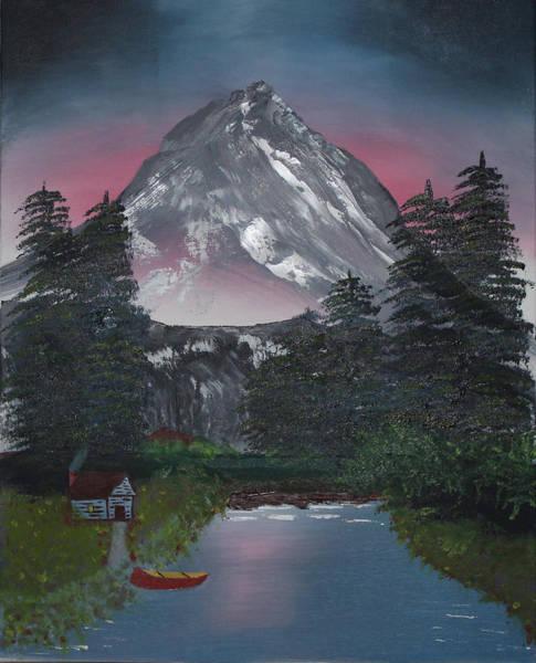 Painting - Snowy Mountain by John Mathews
