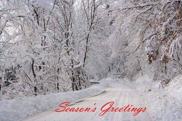 Photograph - Snowy Road In Pennsylvania by Gordon Elwell