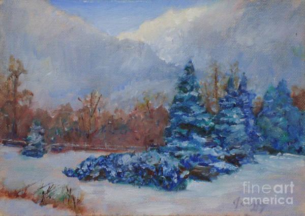 Painting - Snowy Scene by Joan Coffey