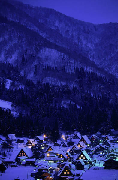 Wall Art - Photograph - Snowy Shirakawa Village, Japan by Peter Essick