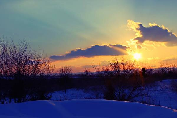 Photograph - Snowy Sunset by Candice Trimble