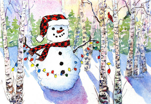 Painting - Snowy Wishes by Mary Giacomini