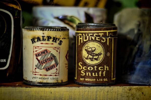 Tin Box Photograph - Snuff Tins by Heather Applegate