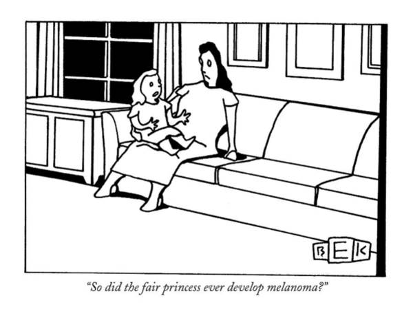 Developed Drawing - So Did The Fair Princess Ever Develop Melanoma? by Bruce Eric Kaplan