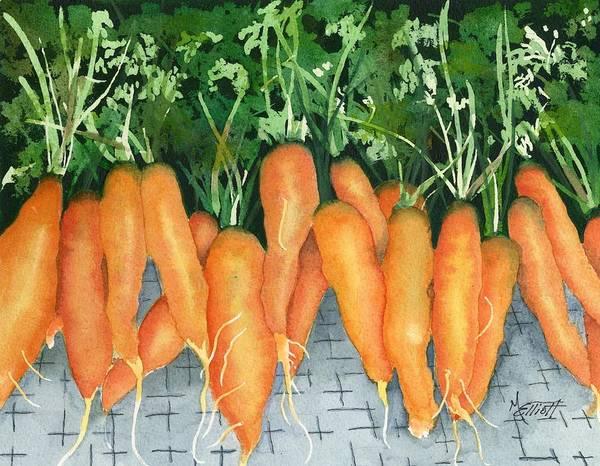 Carrot Painting - So Good For You by Marsha Elliott