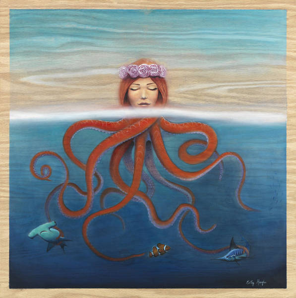 Siren Painting - So Many Fish In The Sea by Kelly Meagher