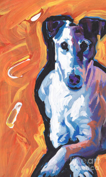 Fox Terrier Wall Art - Painting - So Smooth by Lea S