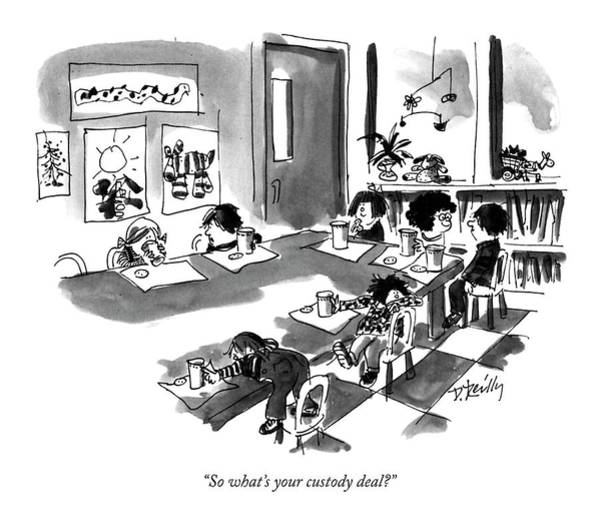 November 11th Drawing - So What's Your Custody Deal? by Donald Reilly