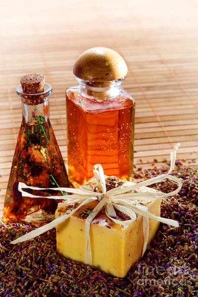 Photograph - Soap And Fragrance Oils by Olivier Le Queinec