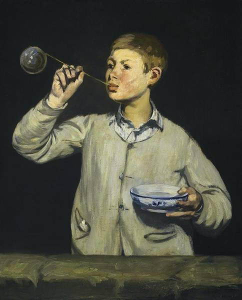 Wall Art - Painting - Soap Bubbles by Edouard Manet