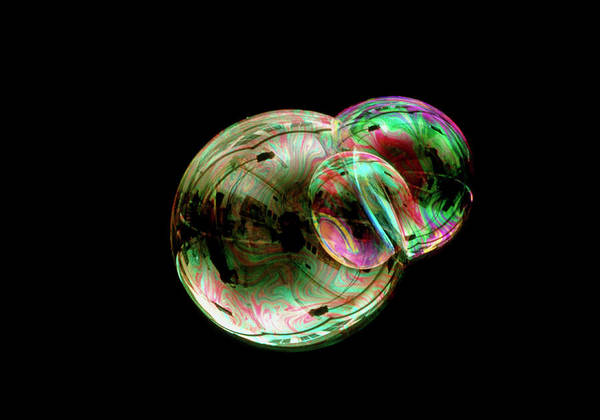 Physics Photograph - Soap Bubbles by Sinclair Stammers