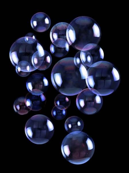 Soap Bubble Photograph - Soap Bubbles by Victor De Schwanberg