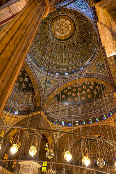 Alabaster Photograph - Soaring Architecture Of The Mosque Of Muhammad Ali Pasha by Mark Tisdale